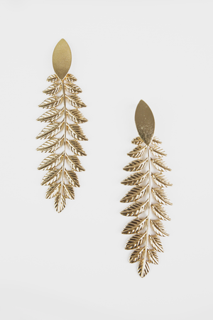 Gold Leaf Metal Earrings - Haute & Rebellious