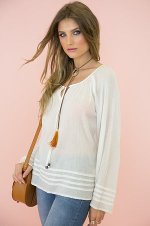 Cabana Linen Long Sleeve Top - Haute & Rebellious