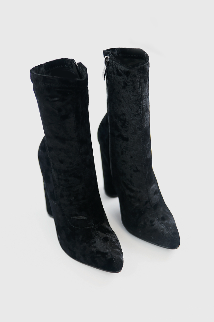 Crush It Velvet Ankle High Booties - Haute & Rebellious