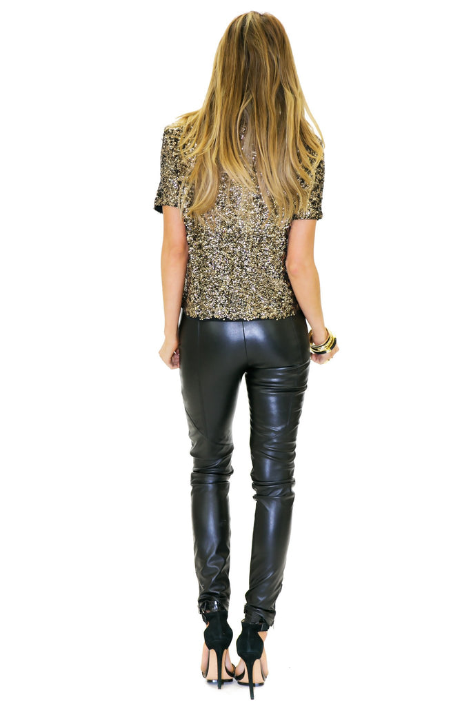 BAYLOR SEQUIN TOP - Gold - Haute & Rebellious
