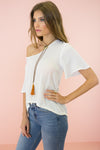 Bali Pom-Pom Trim Linen Top - Haute & Rebellious