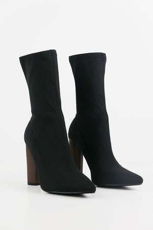 The Talk Sock Booties - Black - Haute & Rebellious