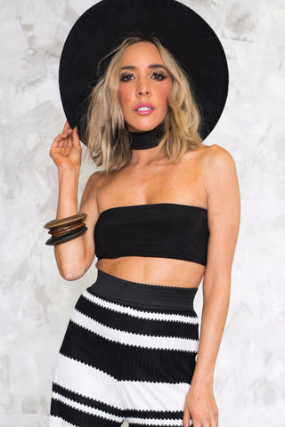 STRAPPLES TUBE CROPPED TUBE TOP