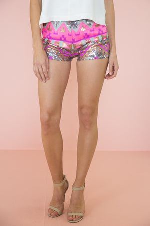 Bri Tribal Sequin Shorts - Haute & Rebellious