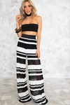 Striped Lace Pant - Haute & Rebellious