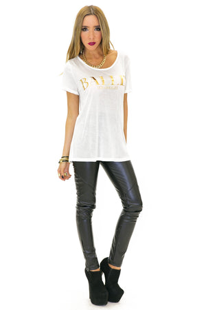 BALLIN LOS ANGELES TEE - White - Haute & Rebellious