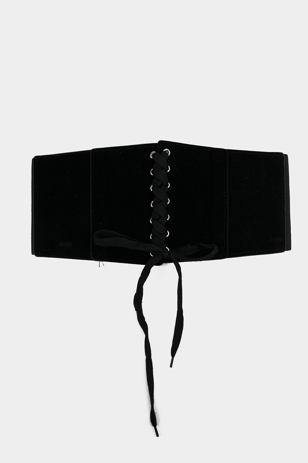 Lace-Up Suede Corset Belt