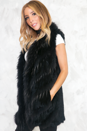 Are You Fur Real Long Vest - Haute & Rebellious