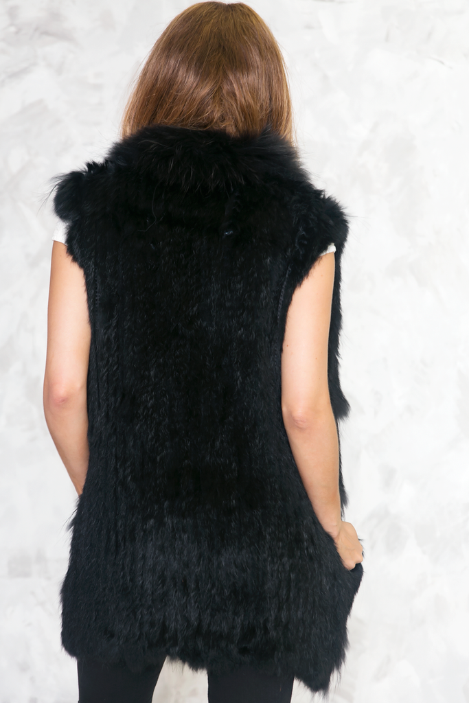 Are You Fur Real Long Vest