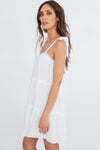 Sweetheart white tie Dress