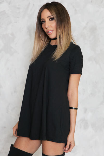 Basically Perfect Tunic - Black - Haute & Rebellious