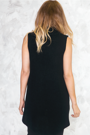 Zoe Ribbed Turtleneck Tank Sweater - Haute & Rebellious