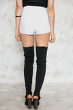 Just Right High-Waisted Shorts - White