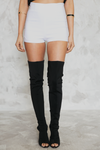 Just Right High-Waisted Shorts - White - Haute & Rebellious