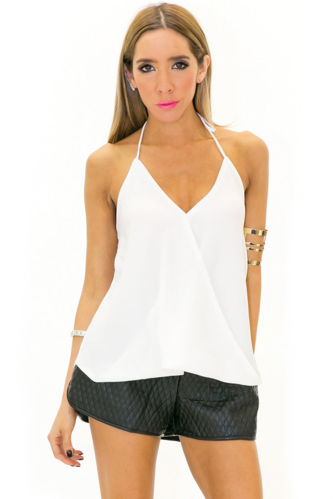 BAKER CHIFFON TUBE TOP - White