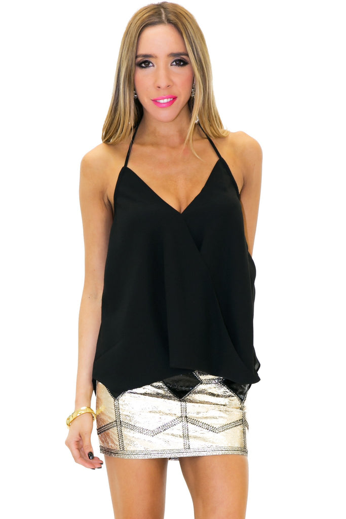 BAKER CHIFFON TUBE TOP - Black - Haute & Rebellious