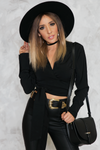 You Got Me Tie-Wrap Blouse - Black /// ONLY 1-S LEFT/// - Haute & Rebellious