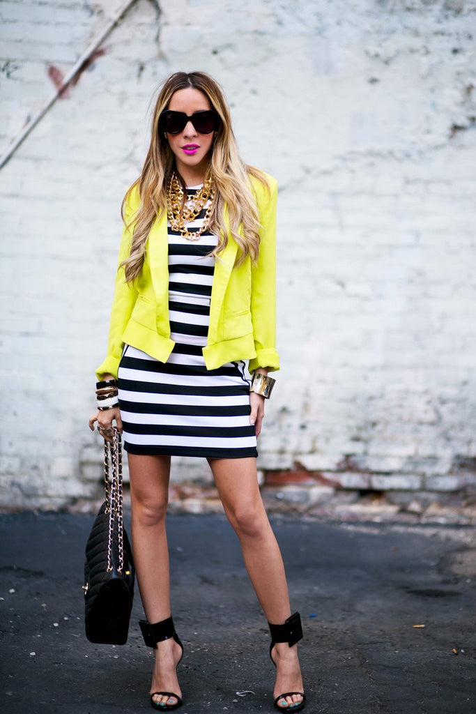NEON SHOULDER PAD BLAZER