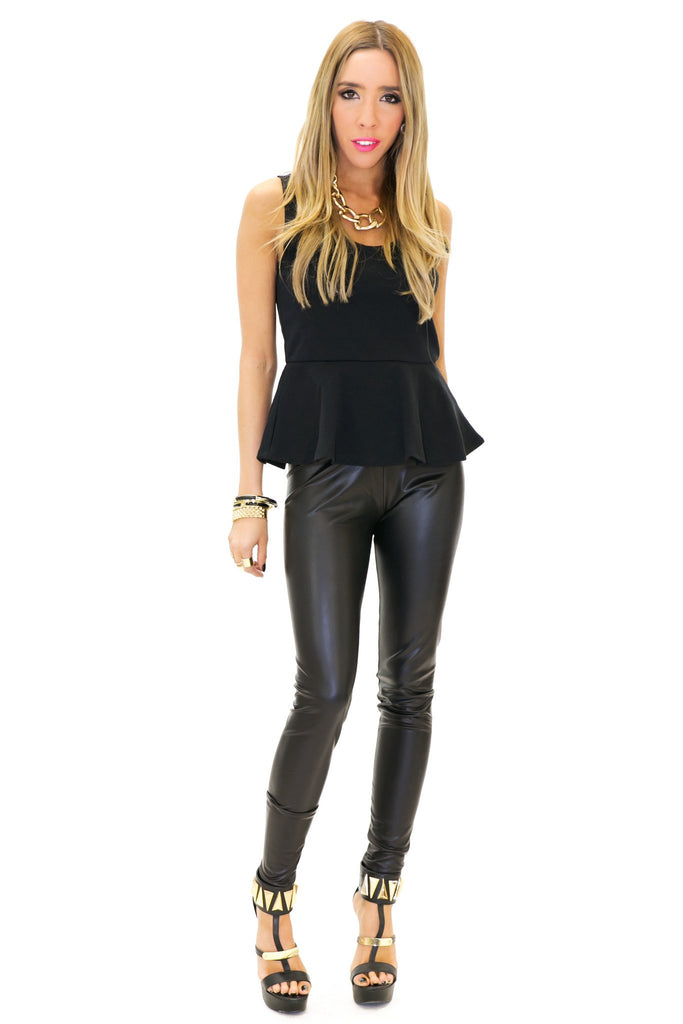 FORD PEPLUM TANK - Black