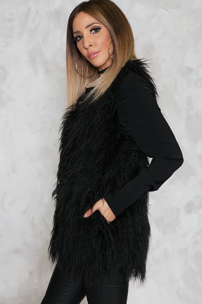 Standing Tall Faux Fur Vest - Haute & Rebellious