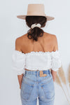 Puff Sleeve Crop Top