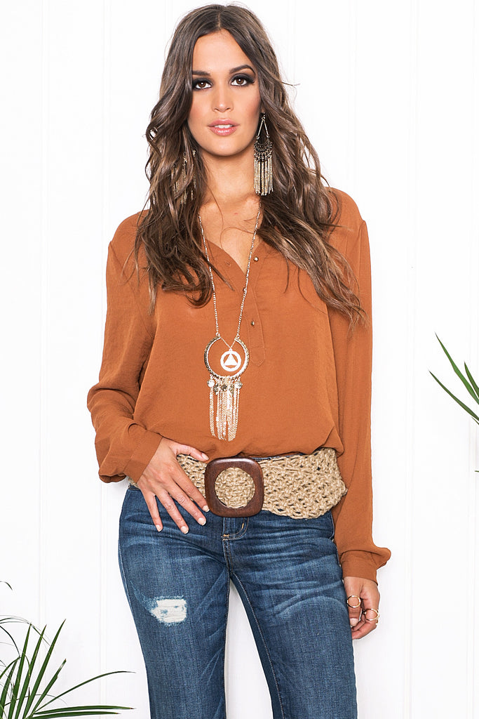 Vana Chiffon Long Sleeve Blouse