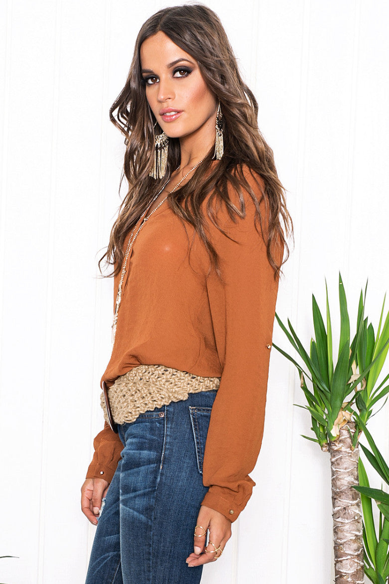 Vana Chiffon Long Sleeve Blouse - Haute & Rebellious