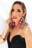 Statement Pom Pom Balls Dangle Earring - Pink - Haute & Rebellious