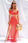Nobody Like You Set - Coral Red - Haute & Rebellious