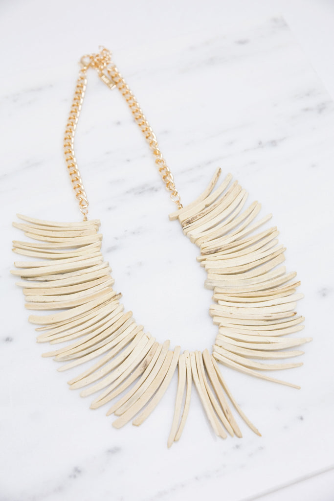 Monse Tribal Wood Necklace