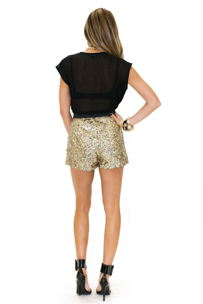 BALMON SEQUIN ROMPER - Haute & Rebellious