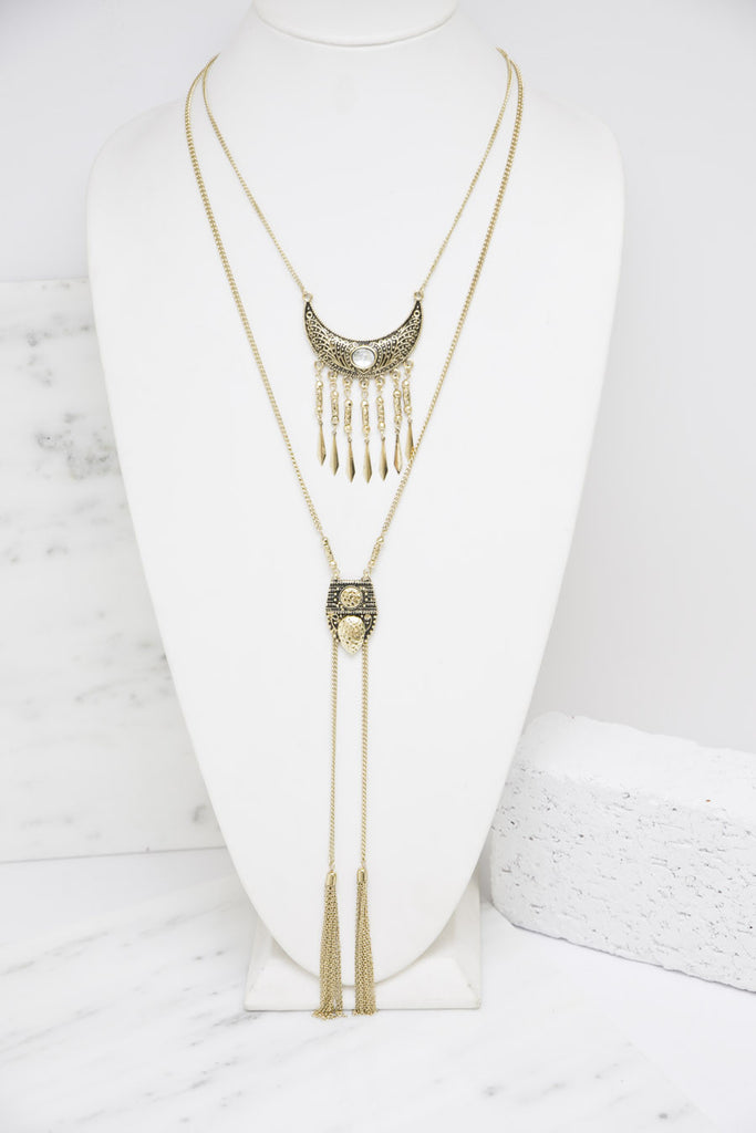 Simona Layered Necklace - Haute & Rebellious