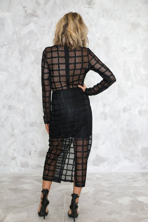 Cross Pattern Mesh Midi Dress /// Only 1-S Left /// - Haute & Rebellious