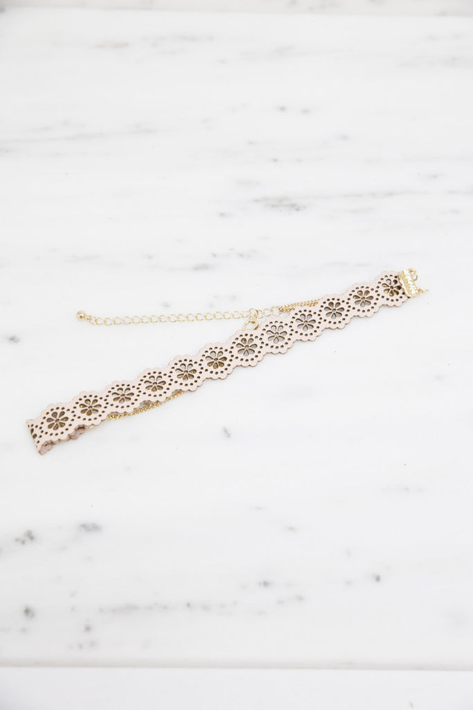 Not So Classic Choker - Blush