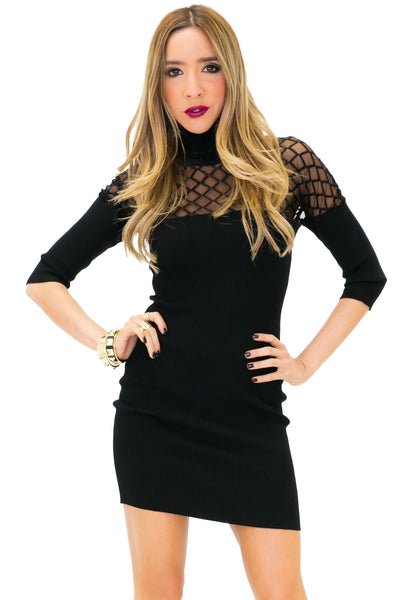 HANA TURTLENECK KNIT DRESS - Haute & Rebellious