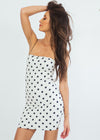 Polka Dot Mini Dress - White