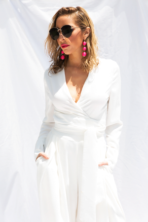 Instantly Famous Tie-Wrap Blouse - White - Haute & Rebellious