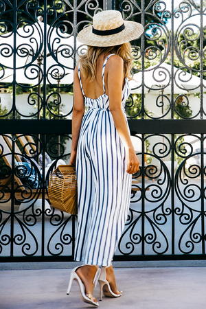 I'll Be The One Striped Linen Crop Jumpsuit - Haute & Rebellious
