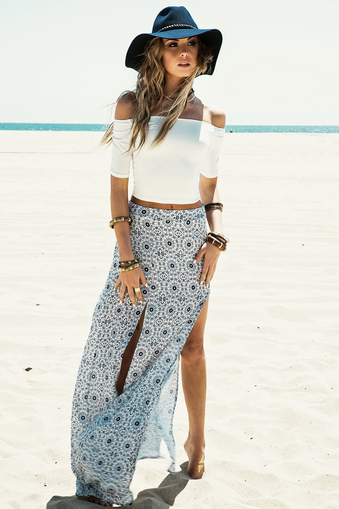 Stella High-Slit Maxi Skirt