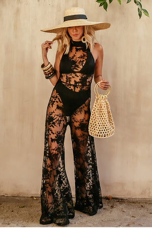 Sheer Halter Jumpsuit