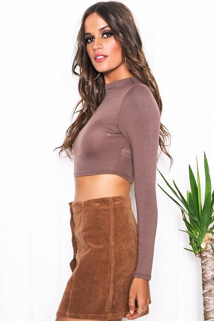 Muriel Long Sleeve Crop Top