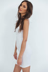 Long Stretch Camisole Dress - White
