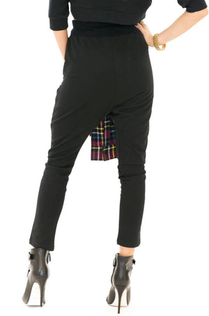 BRAD PLAID SLEEVED SWEAT PANT - Haute & Rebellious