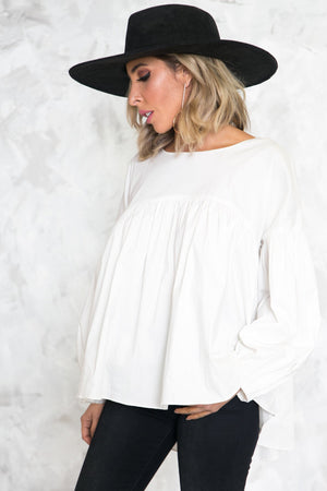 Flare Puff Babydoll Blouse - Haute & Rebellious