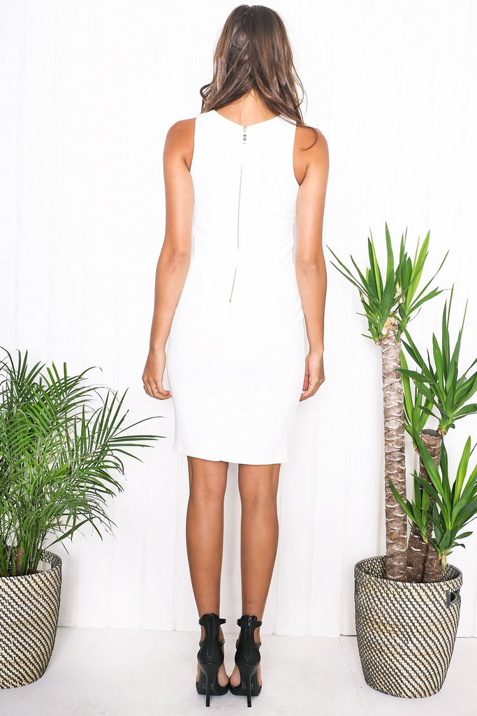 Nediva Lace-Up Midi Dress