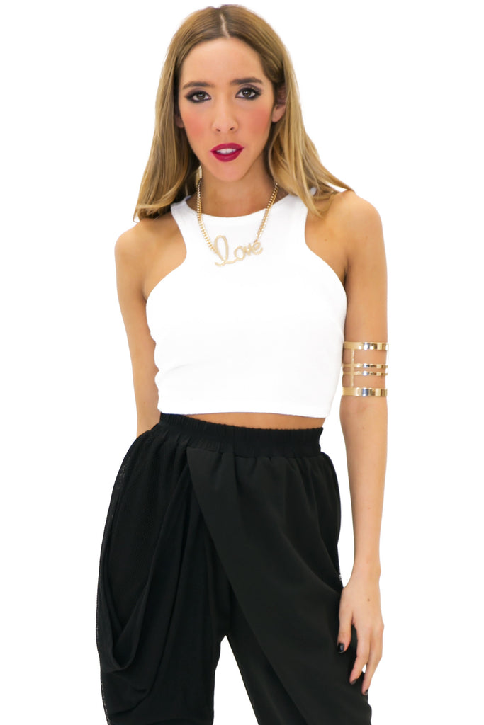 PAUL CROP TOP - White