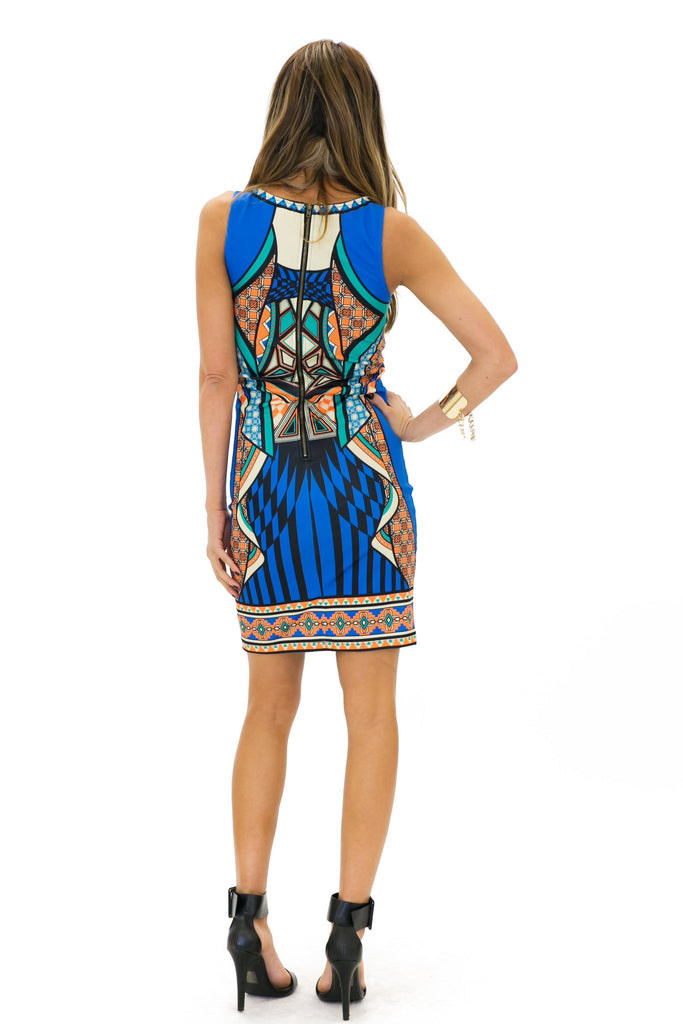 MIA TRIBAL BODYCON MINI DRESS