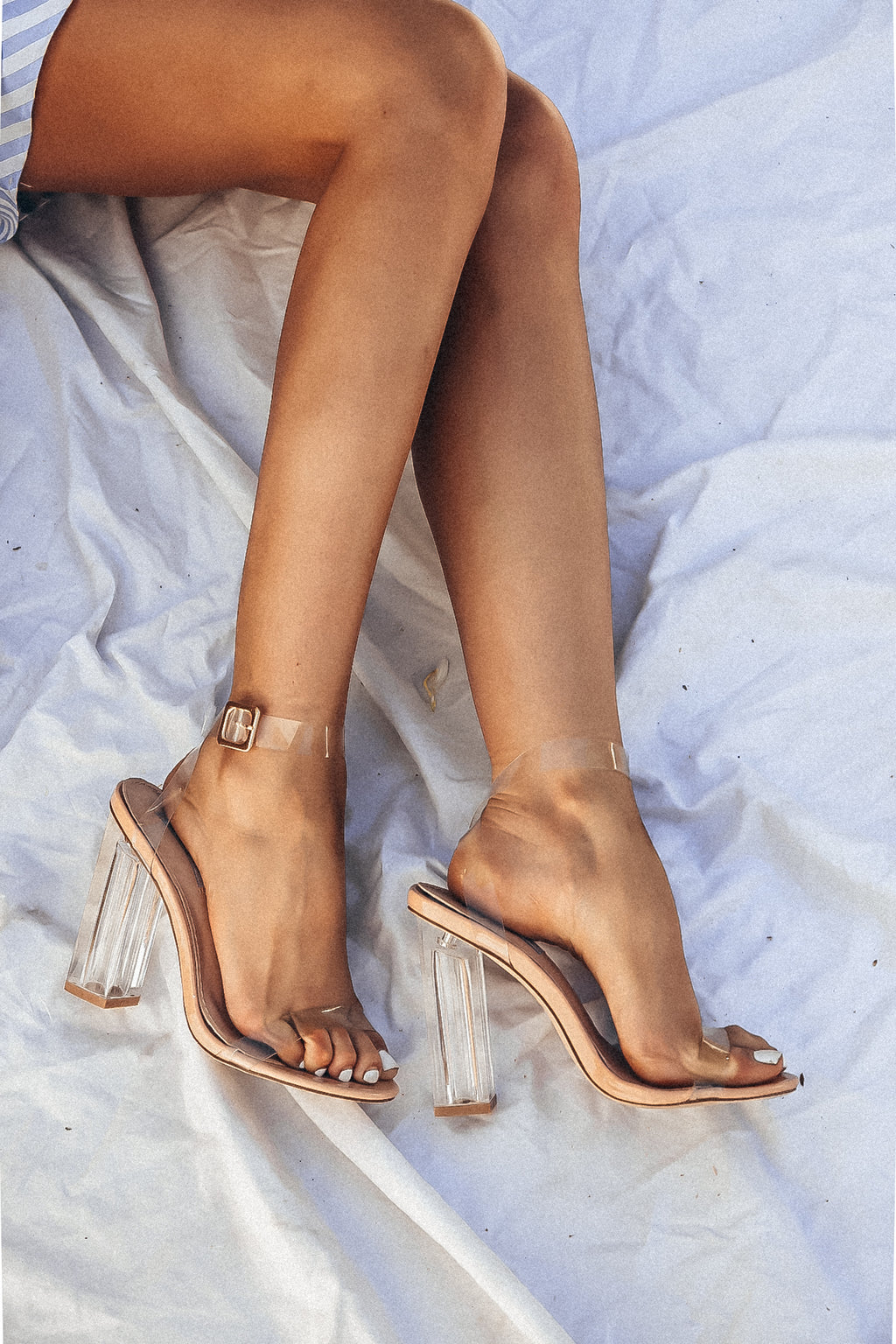 Clear Strappy Heels /// Only Size 11 Left ///