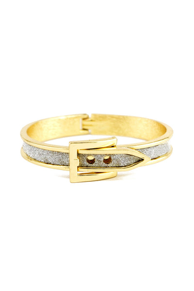 GOLD OUTLINE SOLID BUCKLE BRACELET - Sparkle