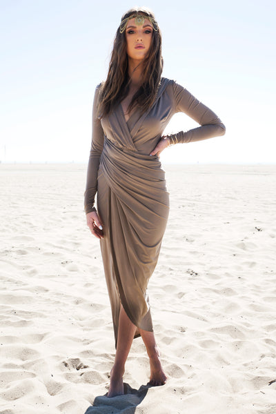Wrap Draped Body-Con Dress /// Only 1-S Left ///